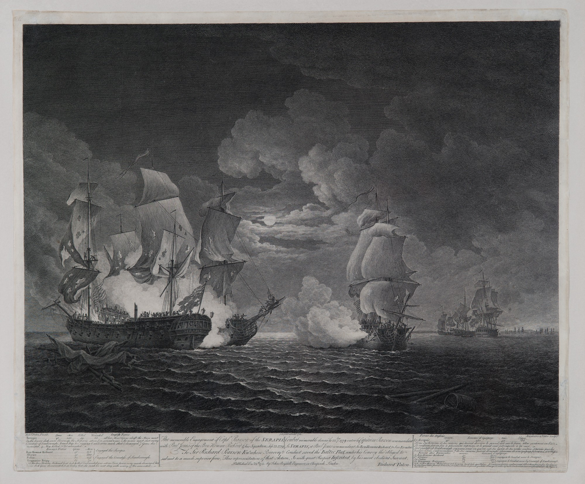 The Memorable Engagement of Capt'n Pearson of the Serapis, with Paul Jones  of