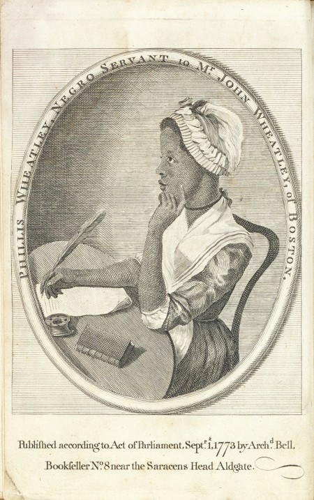 Phillis Wheatley, Unidentified artist, after Scipio Moorhead, 1773, Engraving on paper, National Portrait Gallery, Smithsonian Institution.