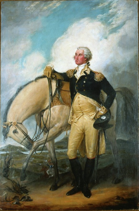 Portrait of Washington at Verplanck's Point, New York, 1782, Reviewing the French Troops after the Victory at Yorktown, by Adrian Lamb after John Trumbull, Purchase, 1982 (M-2832).
