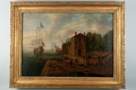 Quay, Italian City, after Claude Lorrain, ca. 1700, Purchase, 1954 (M-1959/A-C).