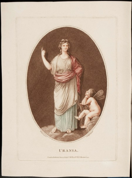 Stipple engravings, Thalia and Urania (published London, 1784). Purchase, 2013 (M-5328).