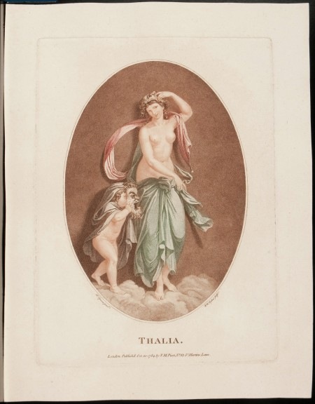 Stipple engravings, Thalia and Urania (published London, 1784). Purchase, 2013 (M-5329).