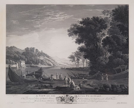 View on the River Po (published in London, 1782). Purchased by the Regent in memory of The President and CEO's late parents, 2011 (M-4966).
