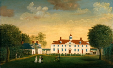 The West Front of Mount Vernon by Edward Savage, c.1787-1792, MVLA.