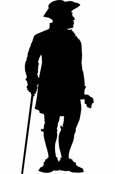 We rarely know what 18th-century enslaved individuals looked like. This silhouette, based on the very few physical descriptions we have, is meant to represent Hercules who worked as a cook while in bondage (MVLA)
