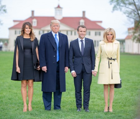 President and Mrs.Trump and President and Mrs. Macron (MVLA)