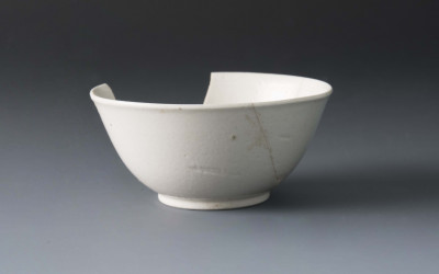White Salt Glazed Stoneware Teabowl