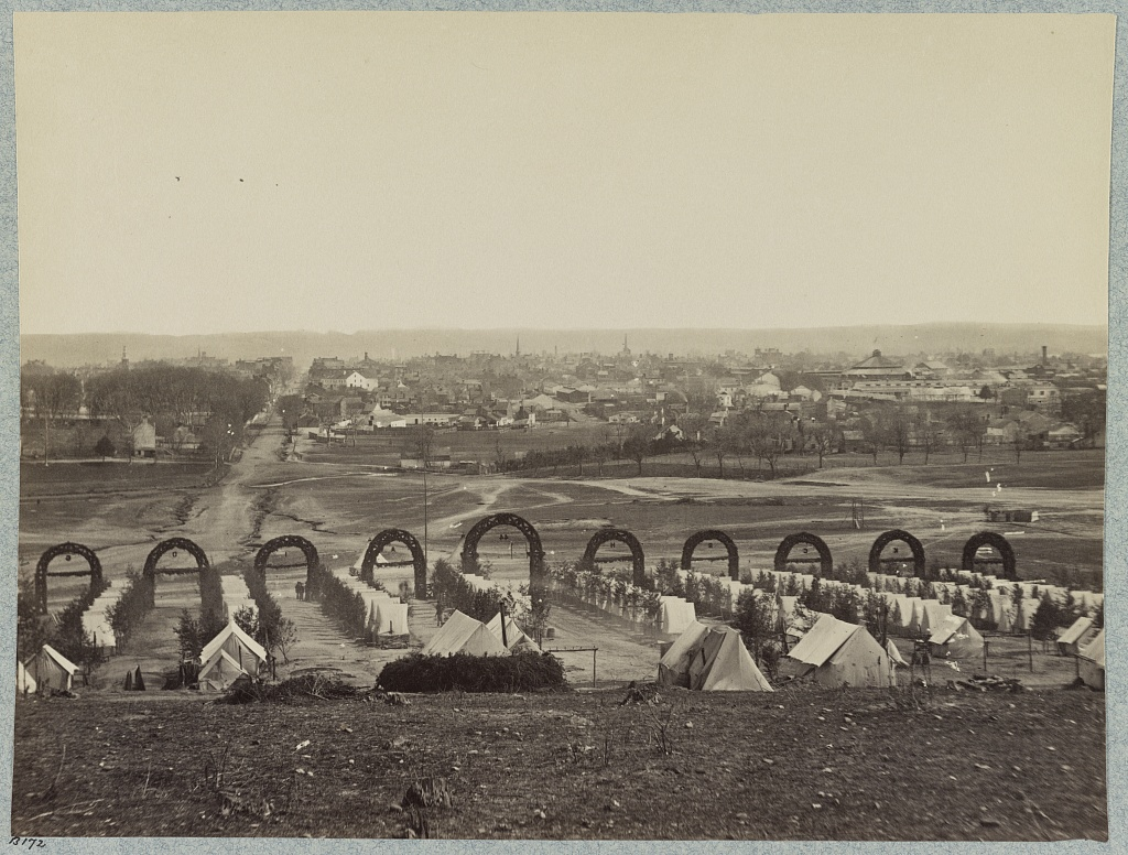 Camp of 44th New York Infantry near Alexandria, Va. 1861, Library of Congress Prints and Photographs Division Washington, D.C.