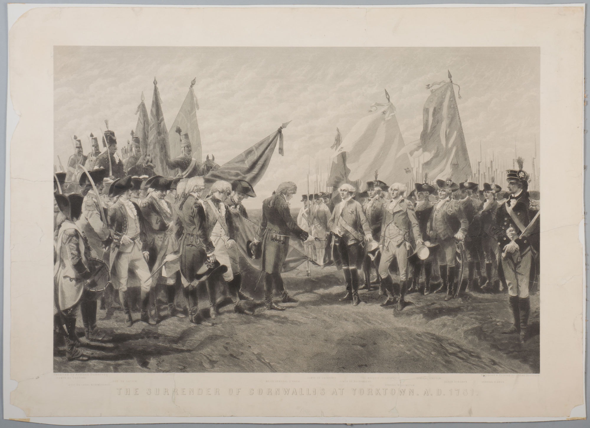 The Surrender of Cornwallis at Yorktown A.D. 1781, 1865-1875, MVLA, SC-171, Gift of Mr. and Mrs. Stanley DeForest Scott, 1985.