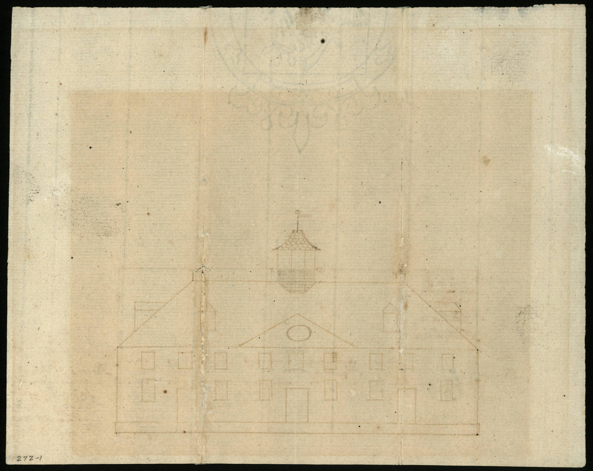 George Washington's West Elevation Plan of Mount Vernon, c. 1774, MVLA.