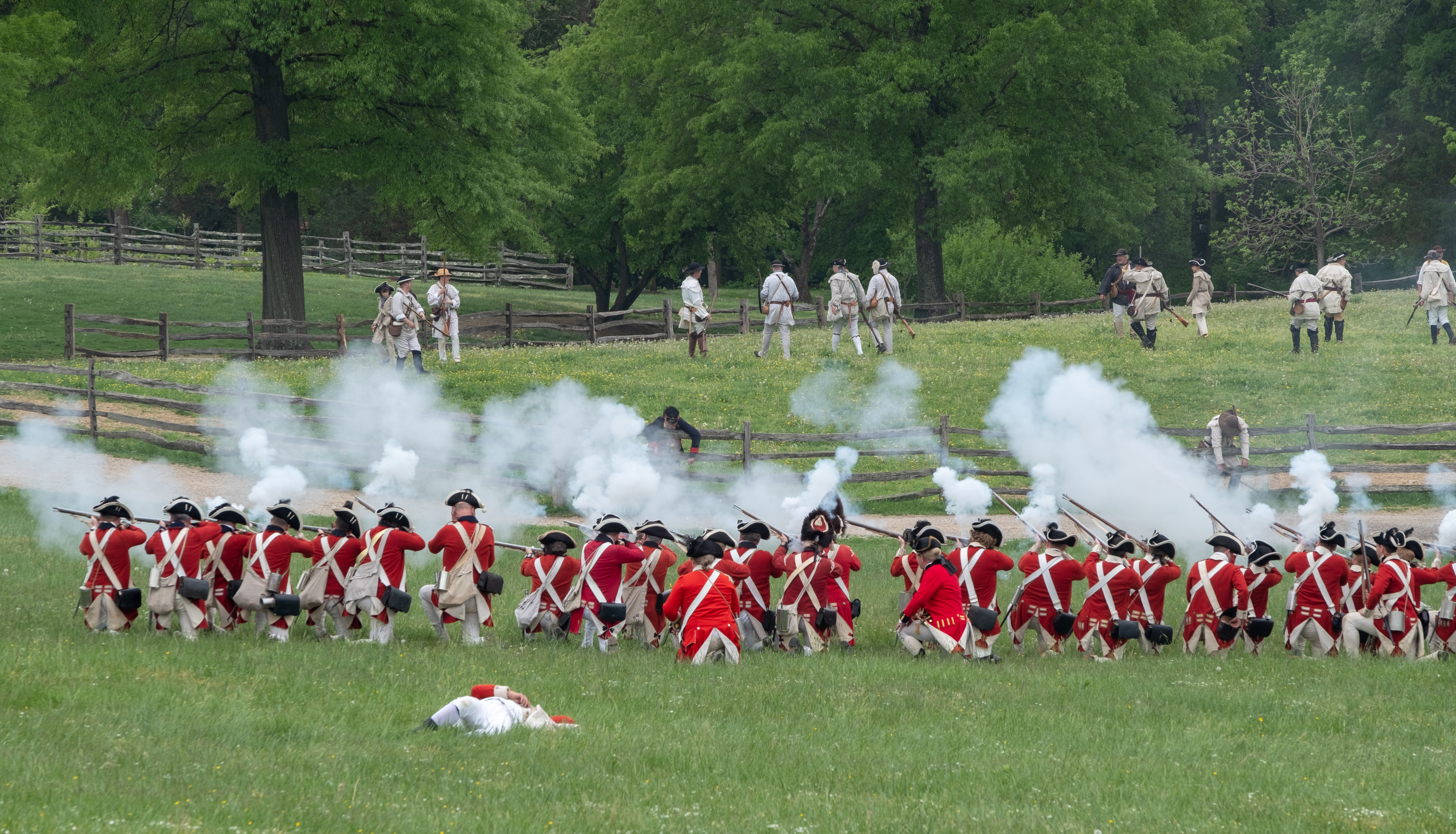 British Troops Firing at the Americans